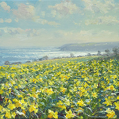 Sunlit Sea and Daffodils, Mount's Bay
